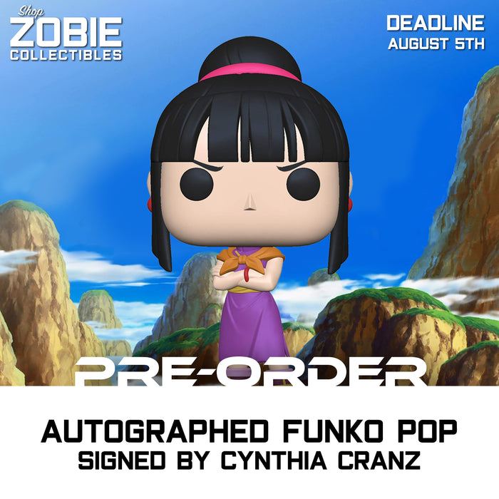 Dragon Ball Z Chi-Chi Pop! Presale Autographed by Cynthia Cranz