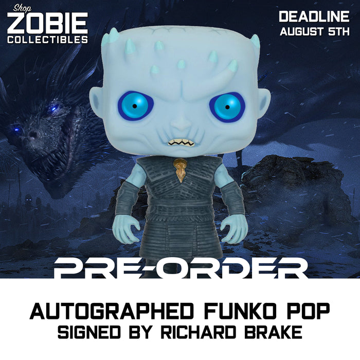 Game of Thrones Night King Pop! Presale Autographed by Richard Brake