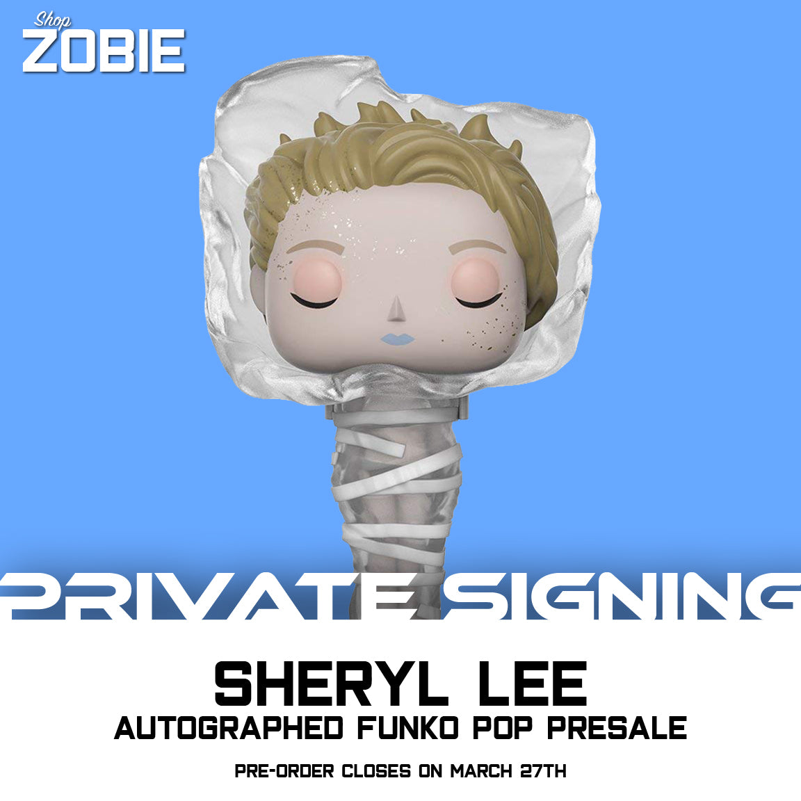 Sheryl Lee Private Signing Autographed Funko Pop Presale