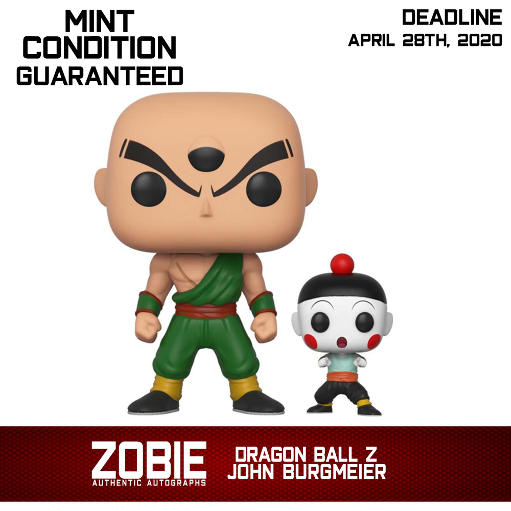 Dragon Ball Z Tien and Chiaotzu Pop! Presale Autographed by John Burgmeier