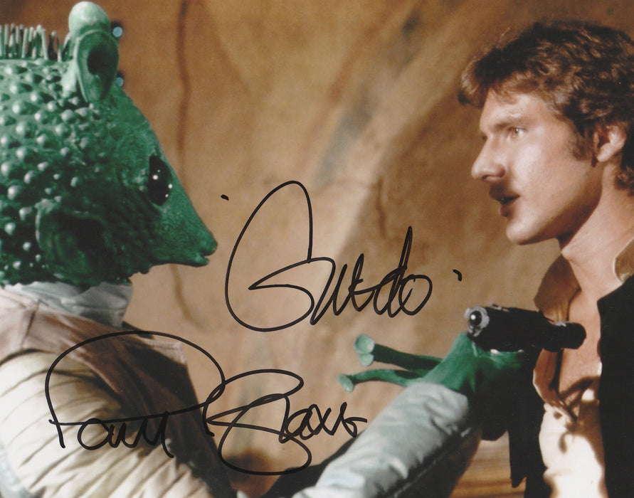 Paul Blake Autograph Star Wars 8x10 Greedo Photo Signed JSA COA