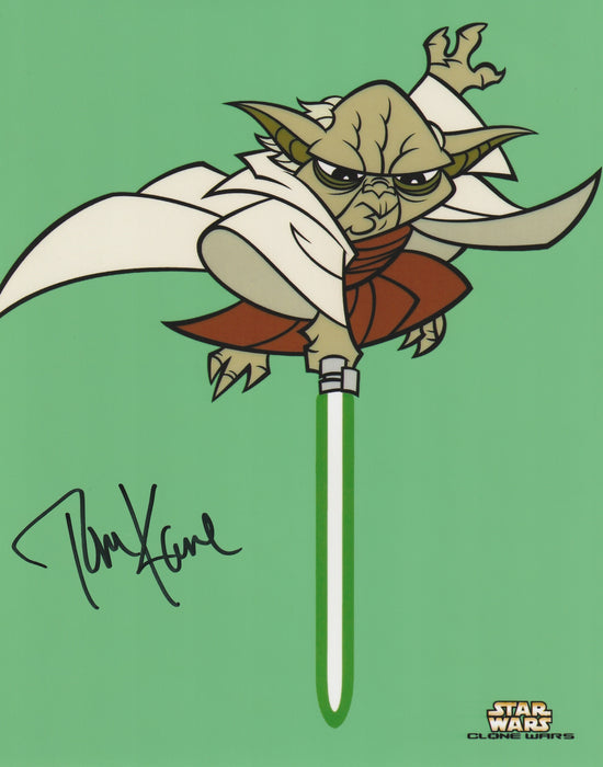 Tom Kane Autograph 8x10 Photo Star Wars - Voice of Yoda COA