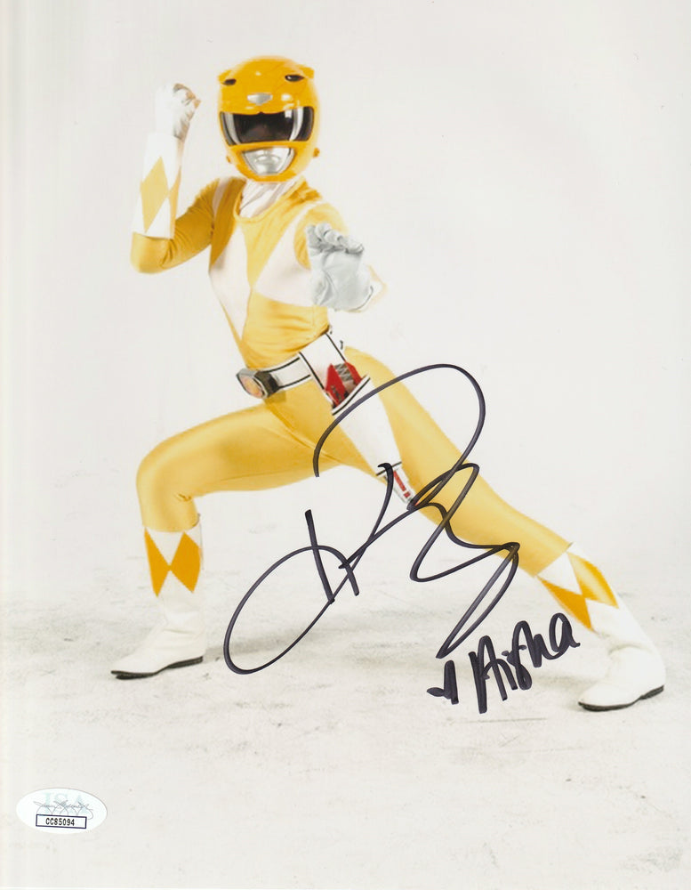 Karan Ashley Autograph MMPR 8x10 Photo Yellow Signed JSA COA