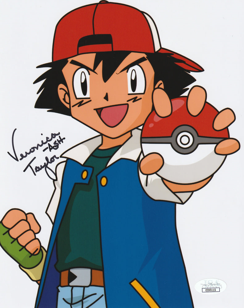 Veronica Taylor Autograph POKEMON 8x10 Photo Ash Signed JSA COA