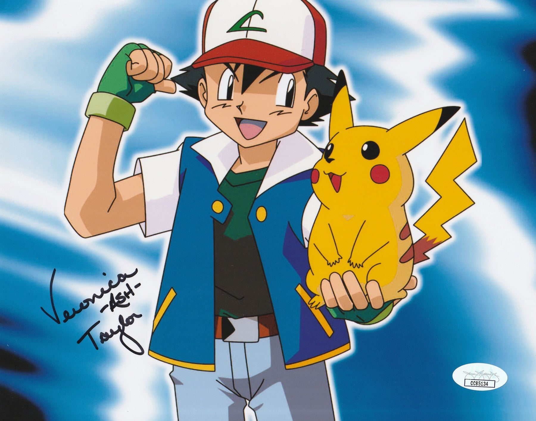 Veronica Taylor Autograph POKEMON 8x10 Photo Ash Signed JSA COA 2