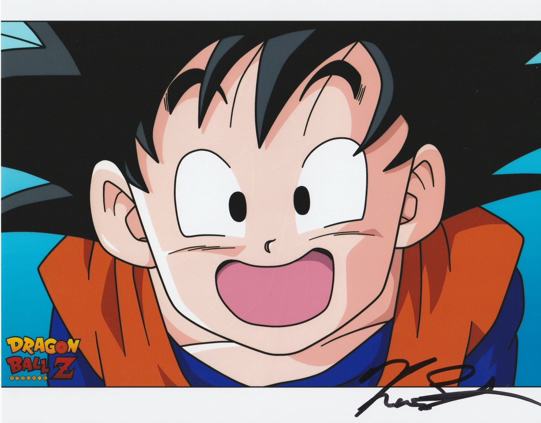 Kara Edwards Autograph Goten 8x10 Photo Dragon Ball Z Signed Zobie COA K1