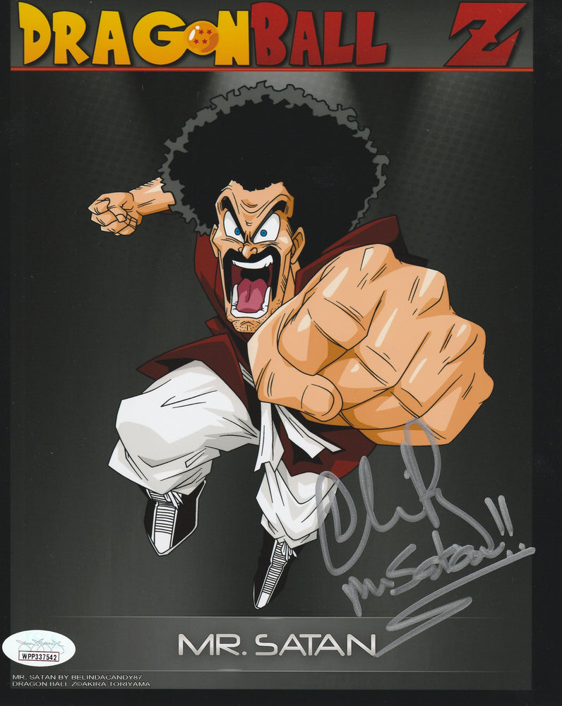 Chris Rager Autograph 8x10 Photo Dragon Ball Z Mr Satan Signed JSA COA CR4