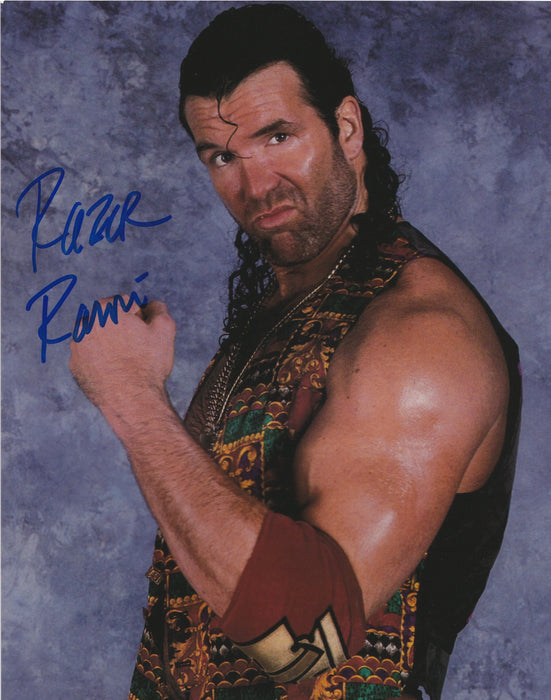 Scott Hall Autograph 8x10 Photo WWE WWF Razor Ramon Signed COA