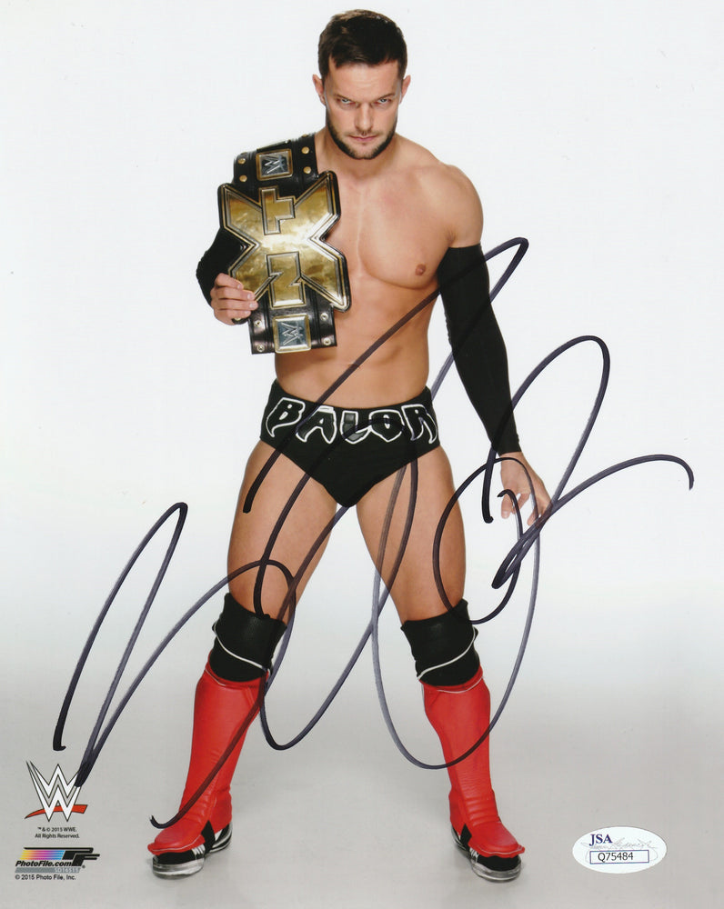 Finn Balor Autograph Demon 8X10 WWE Signed JSA COA 2