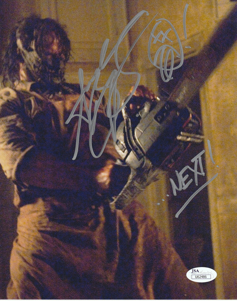 Andrew Bryniarski Autograph 8x10 TCM Photo Leatherface Signed JSA COA 13