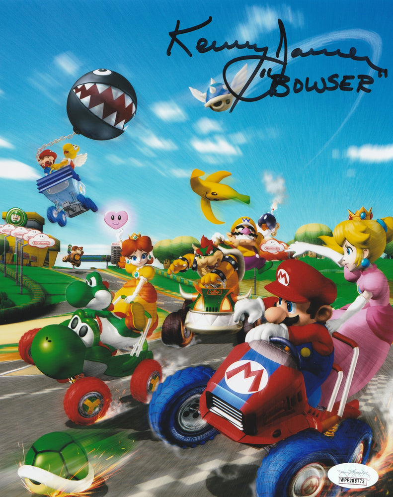 Kenny James Autograph 8x10 Mario Kart Photo Voice of Bowser Signed JSA COA 2