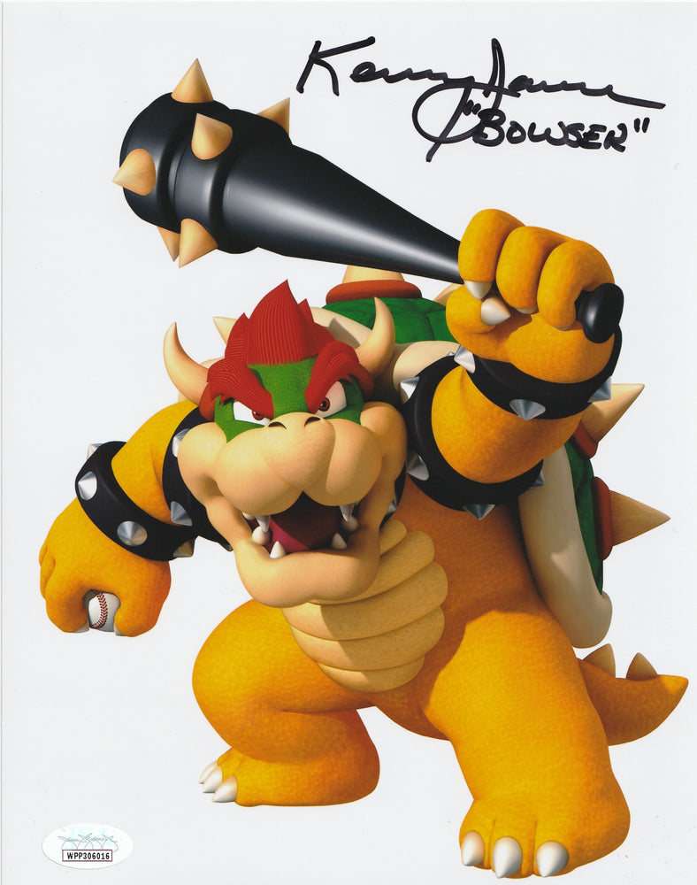 Kenny James Autograph 8x10 Mario Kart Photo Voice of Bowser Signed JSA COA 5