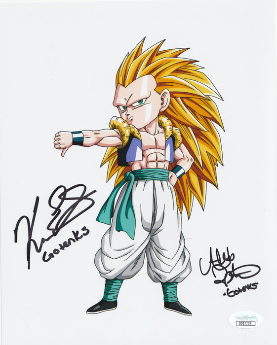 Alexis Tipton and Kara Edwards Autograph 8x10 Dragon Ball Z Gotenks Signed JSA COA