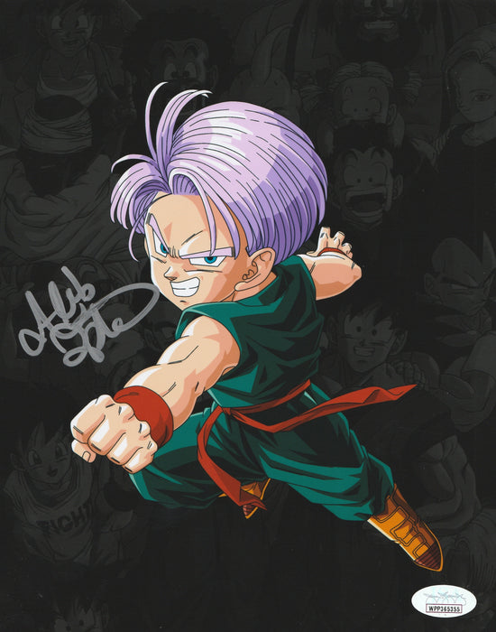 Alexis Tipton Autograph 8x10 Dragon Ball Z Kid Trunks Photo Signed JSA COA