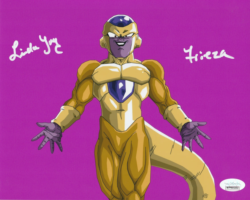 Linda Young Autograph 8x10 Dragon Ball Z Frieza Photo Golden Frieza Signed JSA
