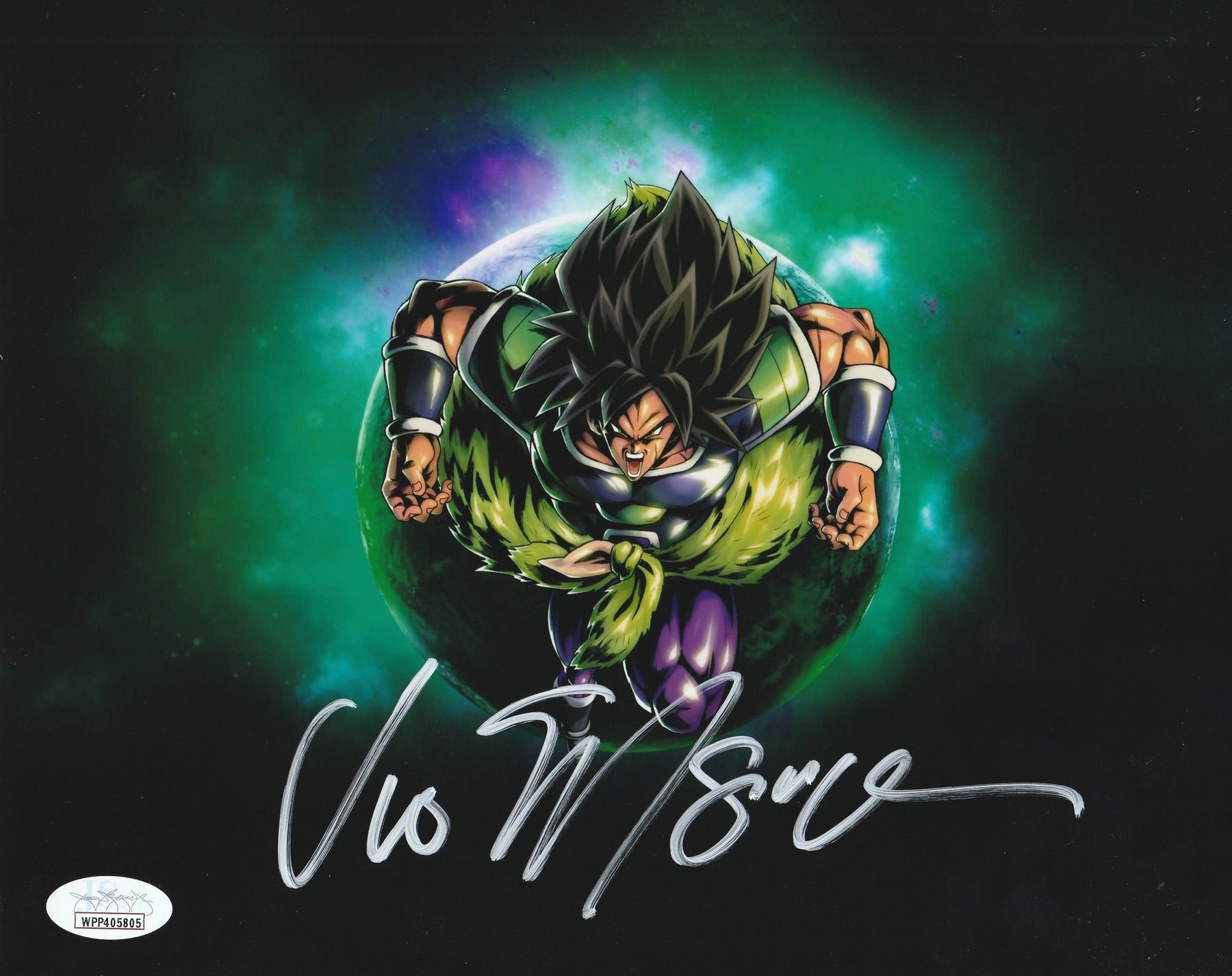 Vic Mignogna Autograph 8x10 Photo Dragon Ball Z Broly Signed JSA COA 9