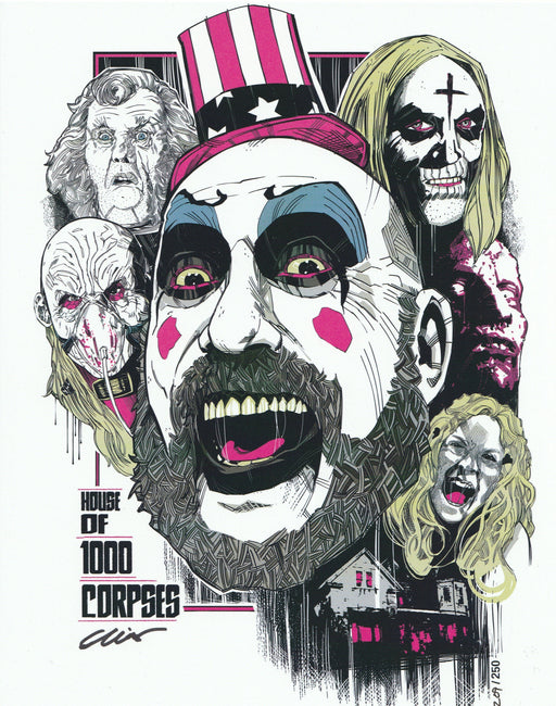 Zobie Fright Pack - Limited Edition 8x10 Art Print - House of 1000 Corpses by Elliot Fernandez