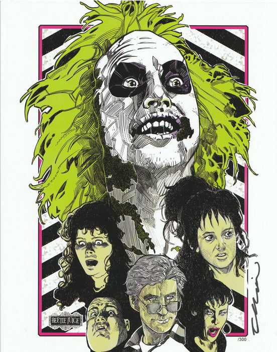 Zobie Box - Limited Edition 8x10 Art Print - Beetlejuice by Elliot Fernandez