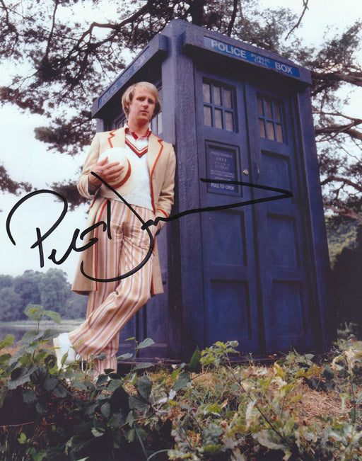 Peter Davison Autograph 8x10 Dr. Who Photo Fifth Doctor Signed COA