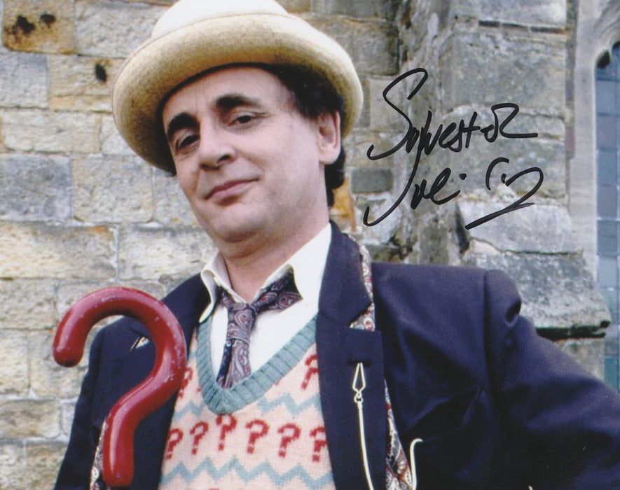 Sylvester McCoy Autograph 8x10 Photo Dr. Who Seventh Doctor Signed COA
