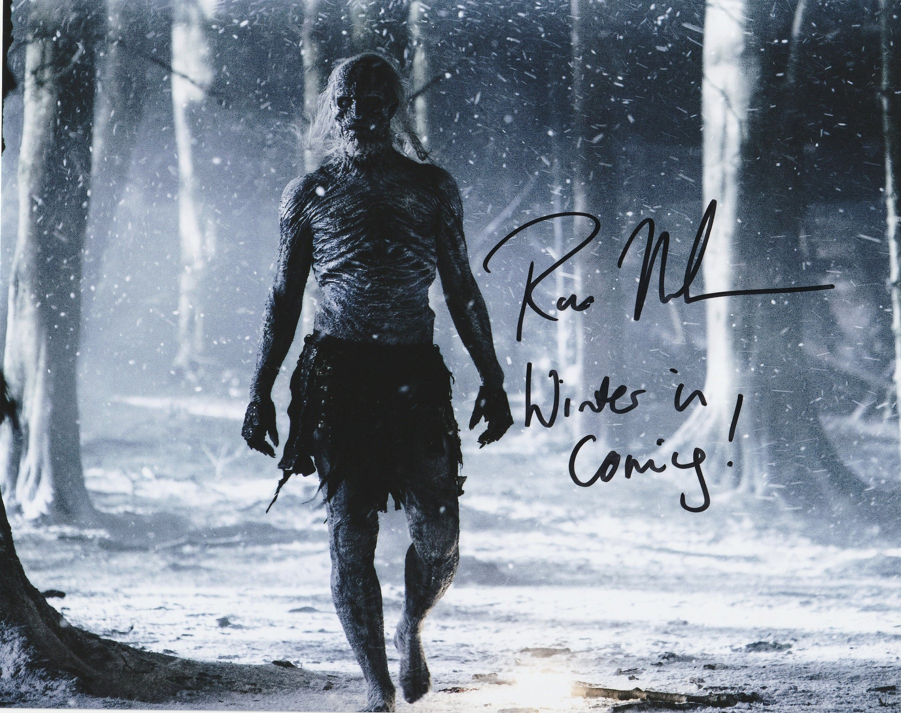Ross Mullan Autograph 8x10 Photo Game of Thrones White Walker COA 6