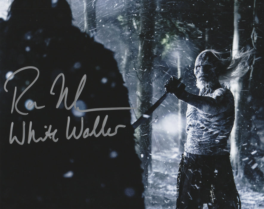 Ross Mullan Autograph 8x10 Photo Game of Thrones White Walker COA 7