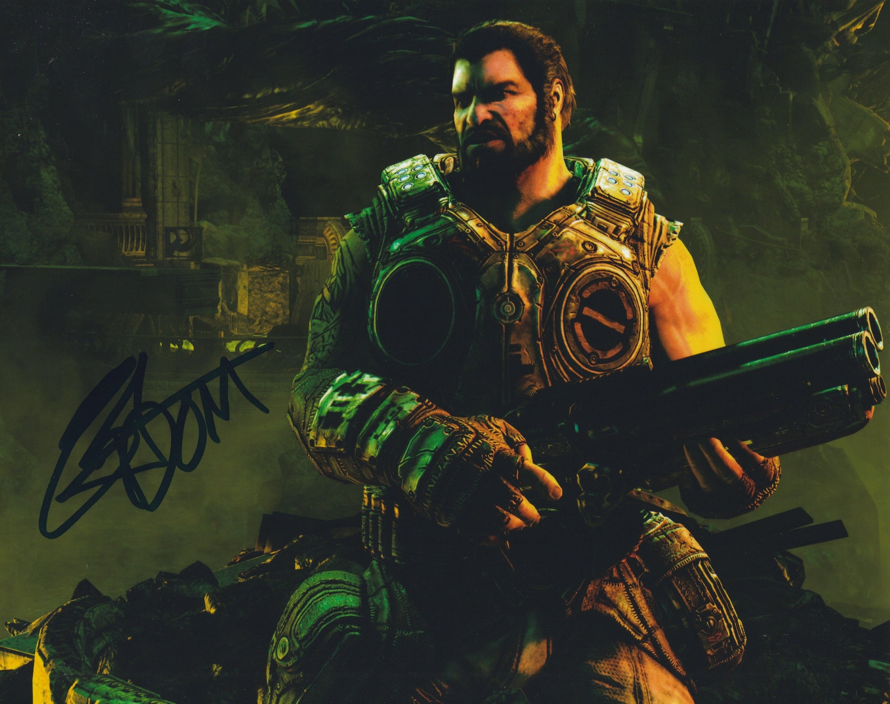 Carlos Ferro Autograph 8x10 Gears of War Photo Dominic Santiago Signed COA Z2