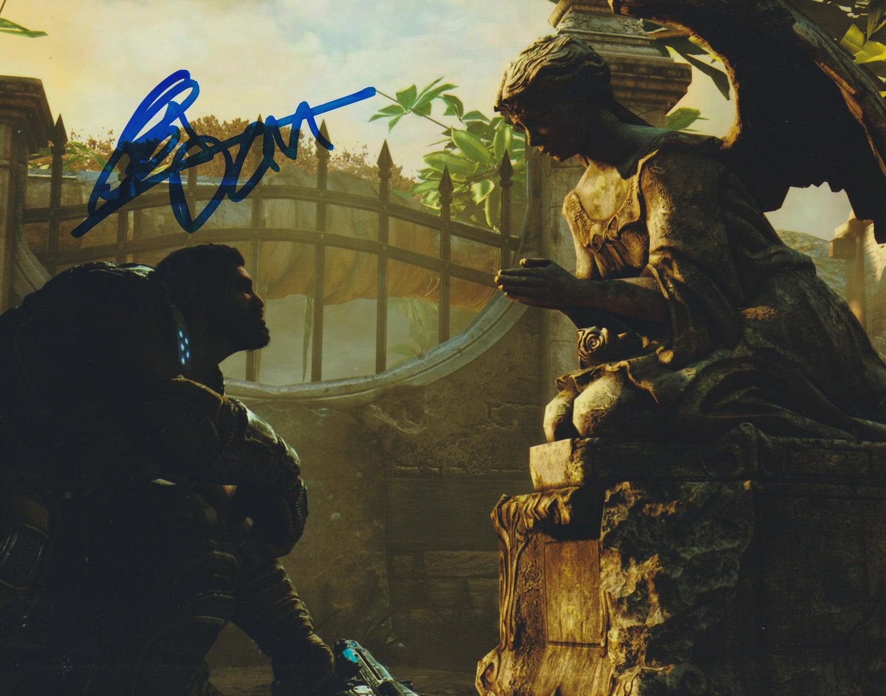 Carlos Ferro Autograph 8x10 Gears of War Photo Dominic Santiago Signed COA Z5