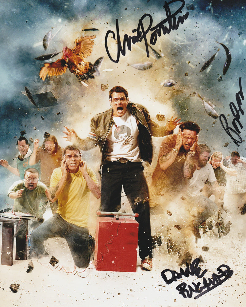 Jackass Cast Chris Preston and Dave Autograph 8x10 Photo Signed COA 4