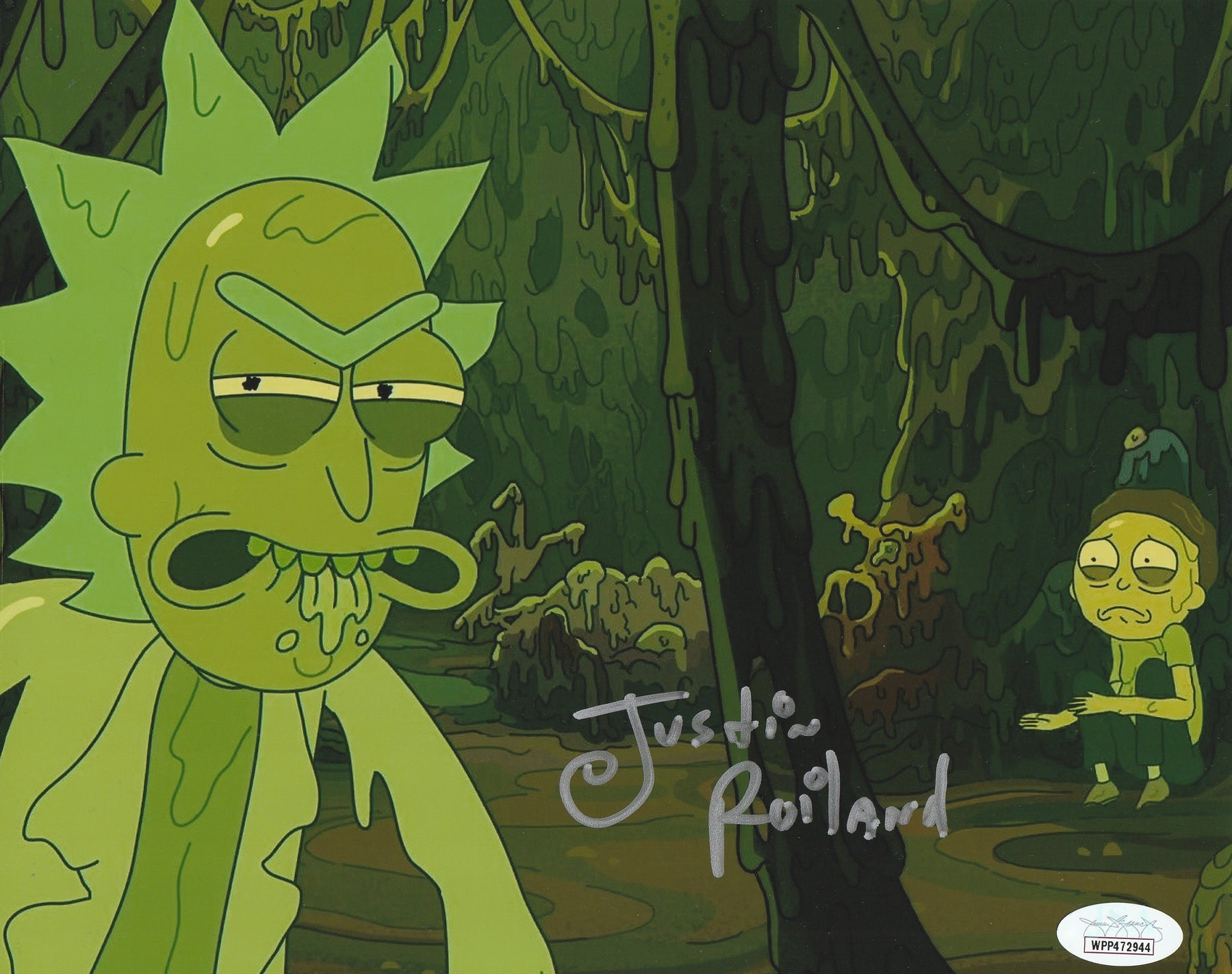 Justin Roiland Autograph 8x10 Rick and Morty Photo Signed JSA COA