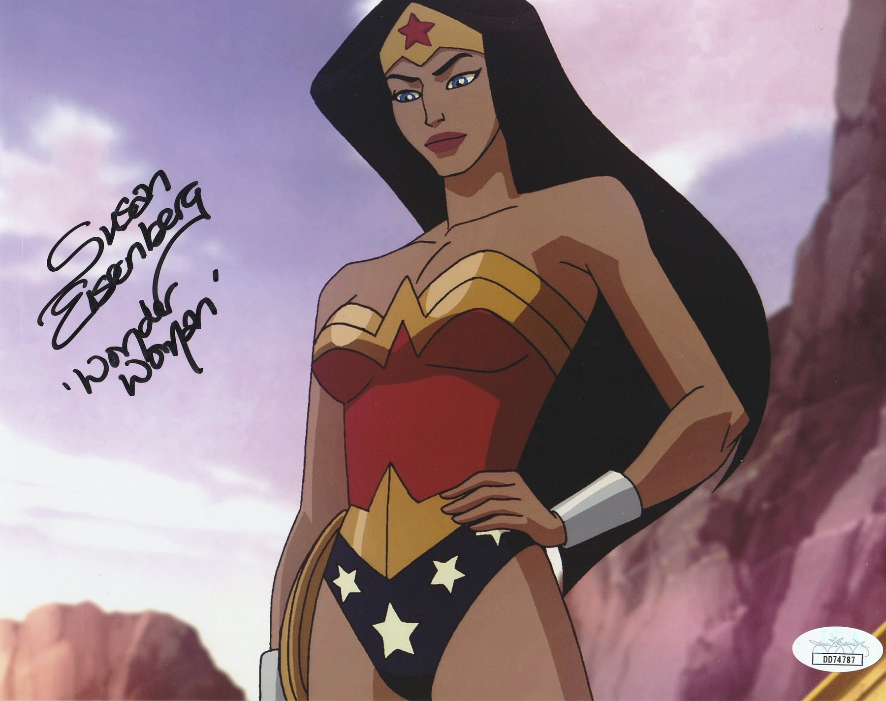 Susan Eisenberg Autograph 8X10 Photo Wonder Woman Signed JSA COA