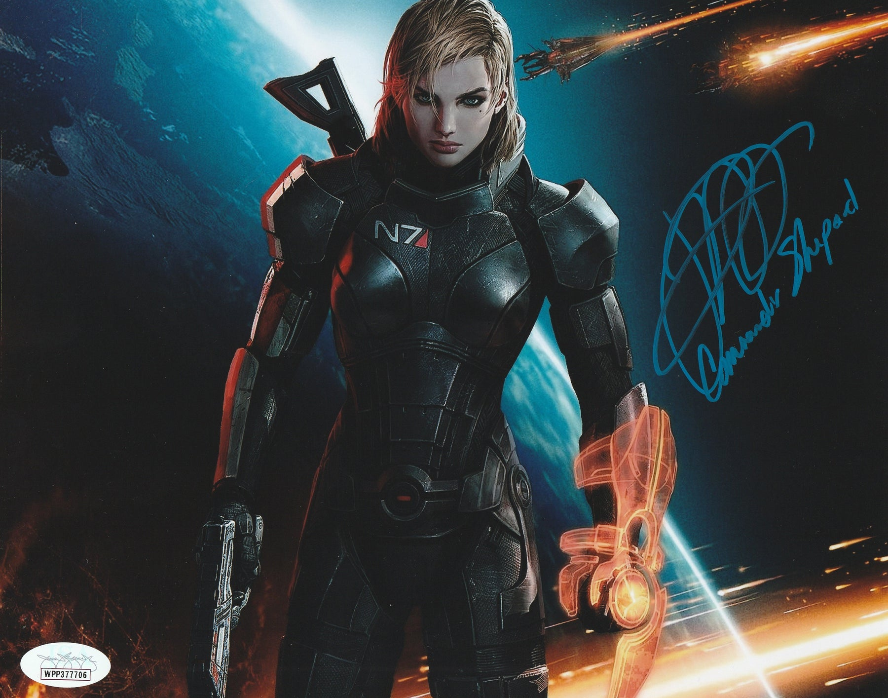 Jennifer Hale Autograph 8x10 Photo Mass Effect Shepard Signed JSA COA 1
