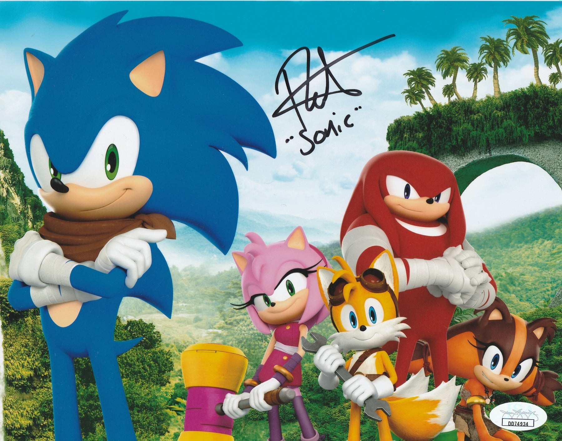 Roger Craig Smith Autograph 8x10 Photo Sonic the Hedgehog Signed JSA COA