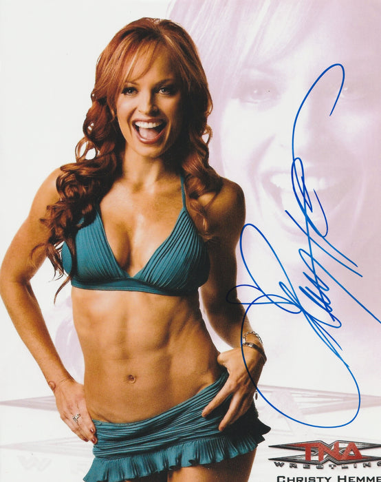 Christy Hemme Autograph 8x10 WWF Diva Search Photo Sexy COA 4