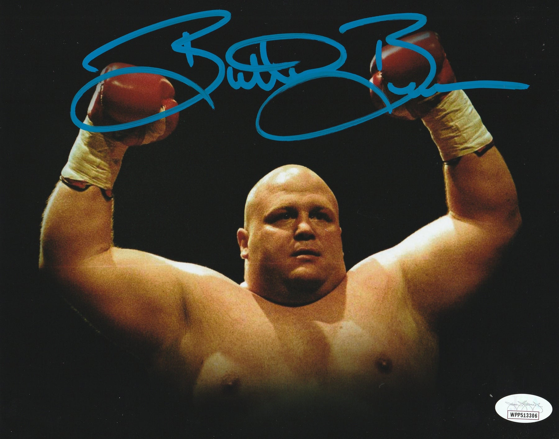 Eric Esch Autograph 8x10 Photo Butterbean Boxer Signed JSA COA