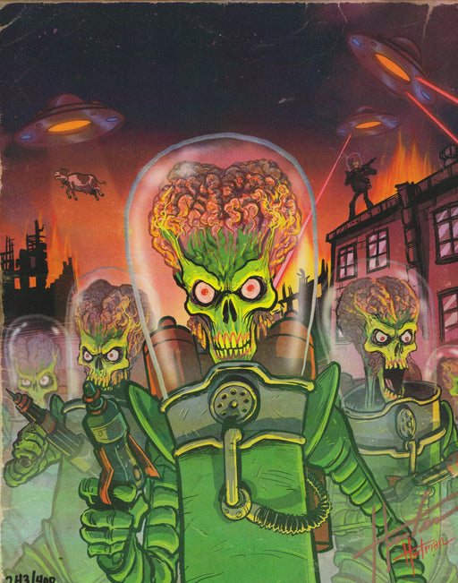 Zobie Box - Limited Edition 8x10 Art Print - Mars Attacks by David Hartman