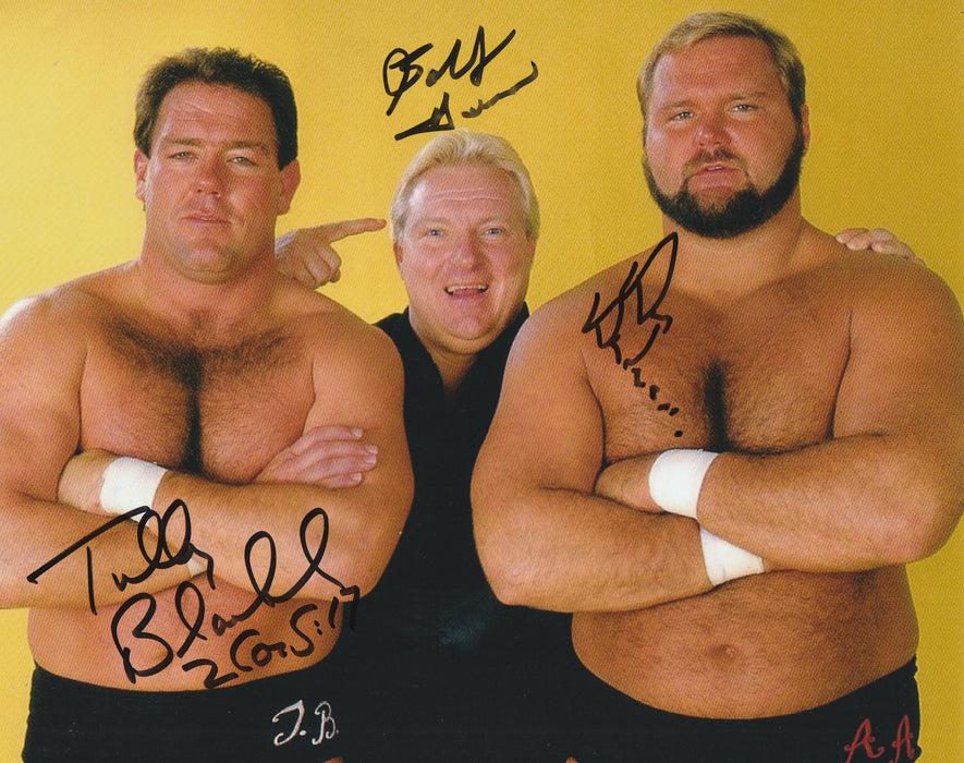 The Brain Busters Autograph 8x10 Photo WWF Arn Anderson Tully Heenan COA