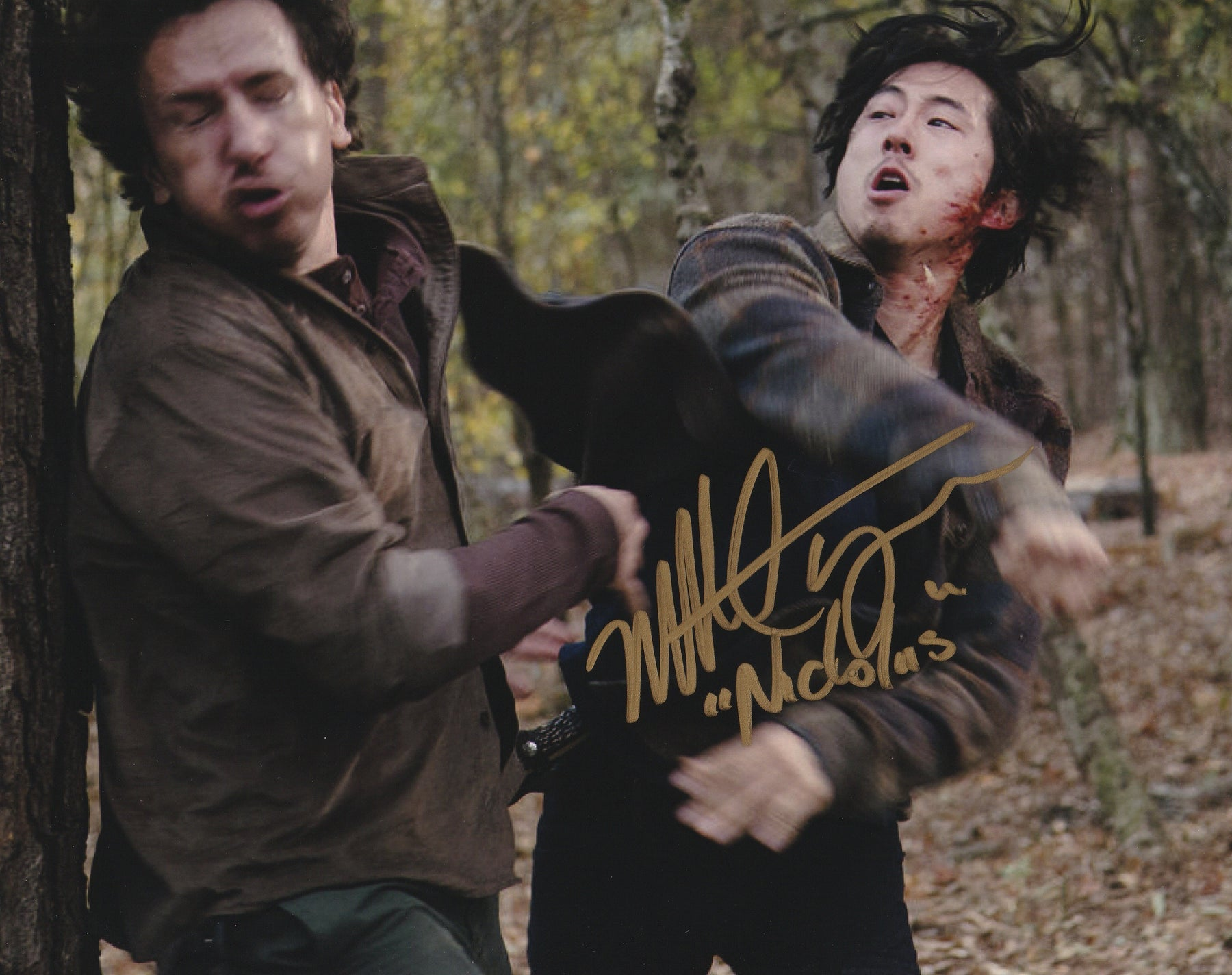Michael Traynor Autograph 8x10 Photo The Walking Dead Signed COA
