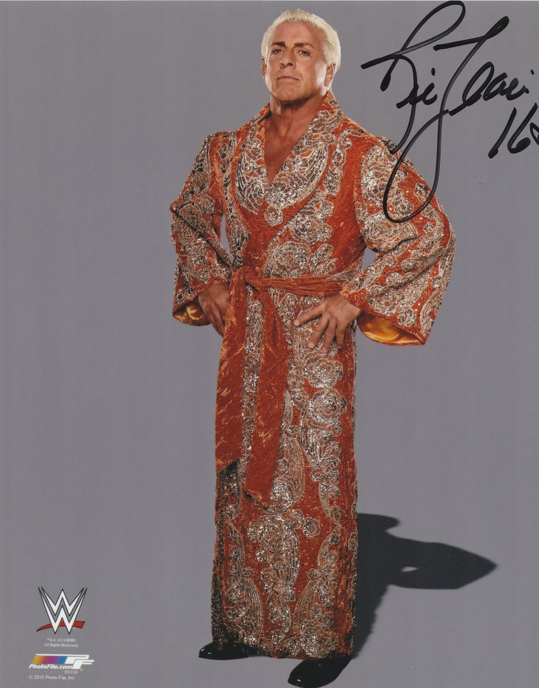 Ric Flair Authentic Signed 8x10 Photo Autograph WWE WWF NXT COA Nature Boy
