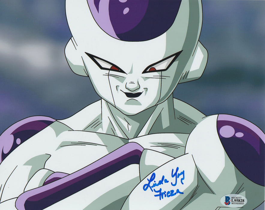 Linda Young Autograph 8x10 Dragon Ball Z Frieza Photo Signed BAS COA