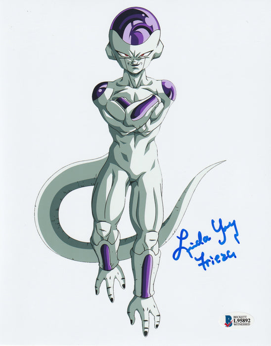 Linda Young Autograph 8x10 Dragon Ball Z Frieza Photo Signed BAS COA 9