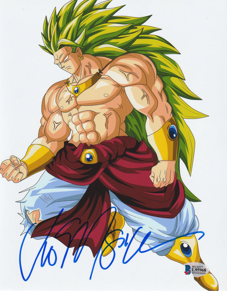 Vic Mignogna Autograph 8x10 Photo Dragon Ball Z Broly Signed BAS COA 2