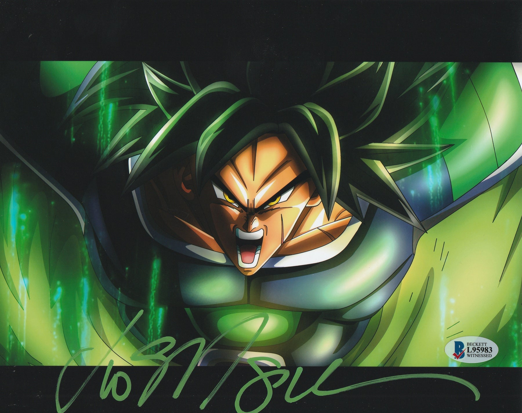 Vic Mignogna Autograph 8x10 Photo Dragon Ball Z Broly Signed BAS COA 4