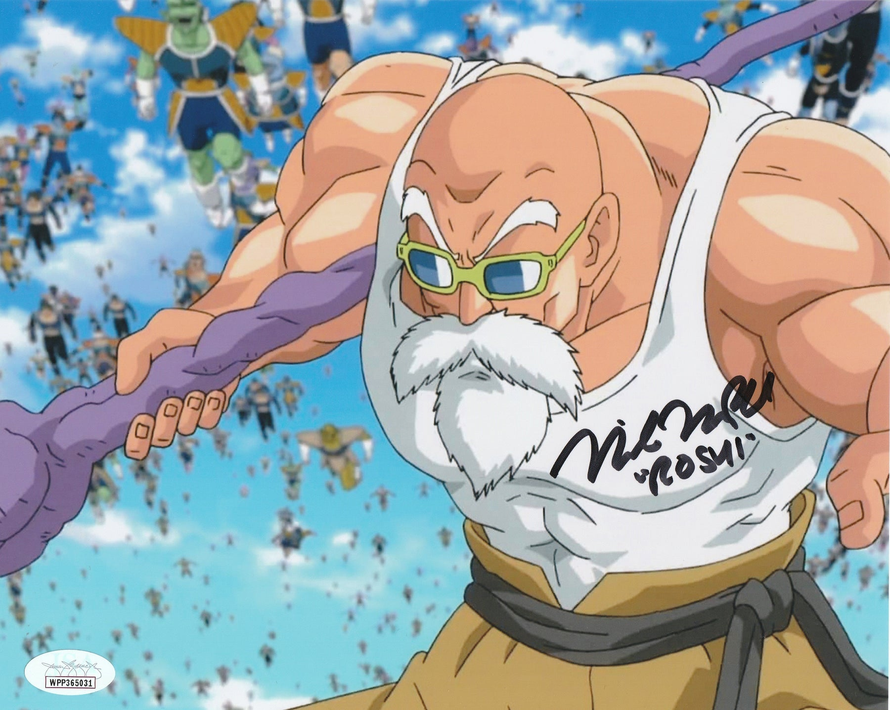 Mike McFarland Autograph 8X10 Dragon Ball Z Master Roshi Signed Photo JSA COA