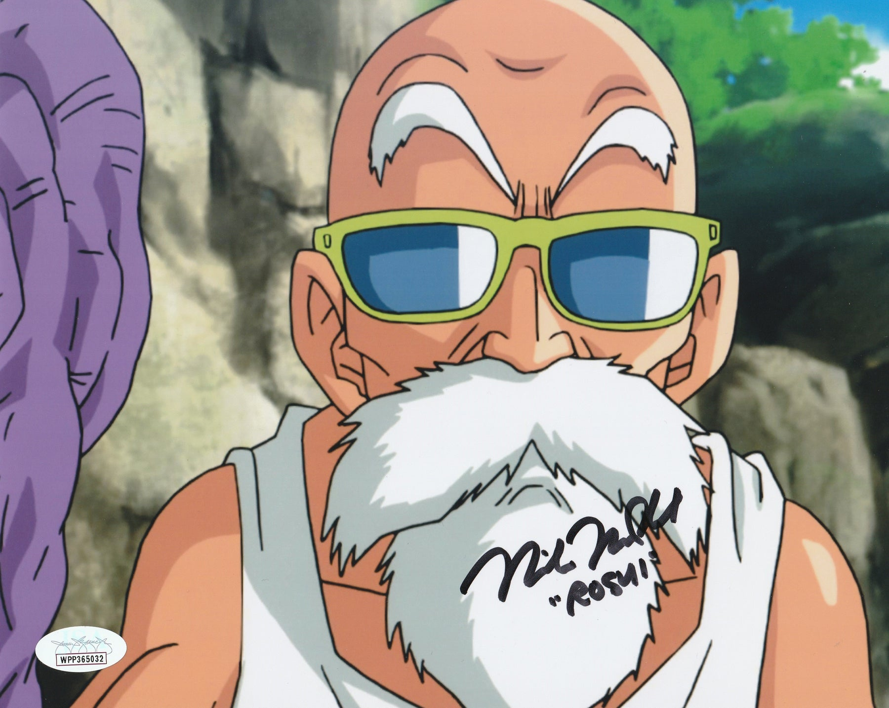 Mike McFarland Autograph 8X10 Dragon Ball Z Master Roshi Signed Photo JSA COA 3