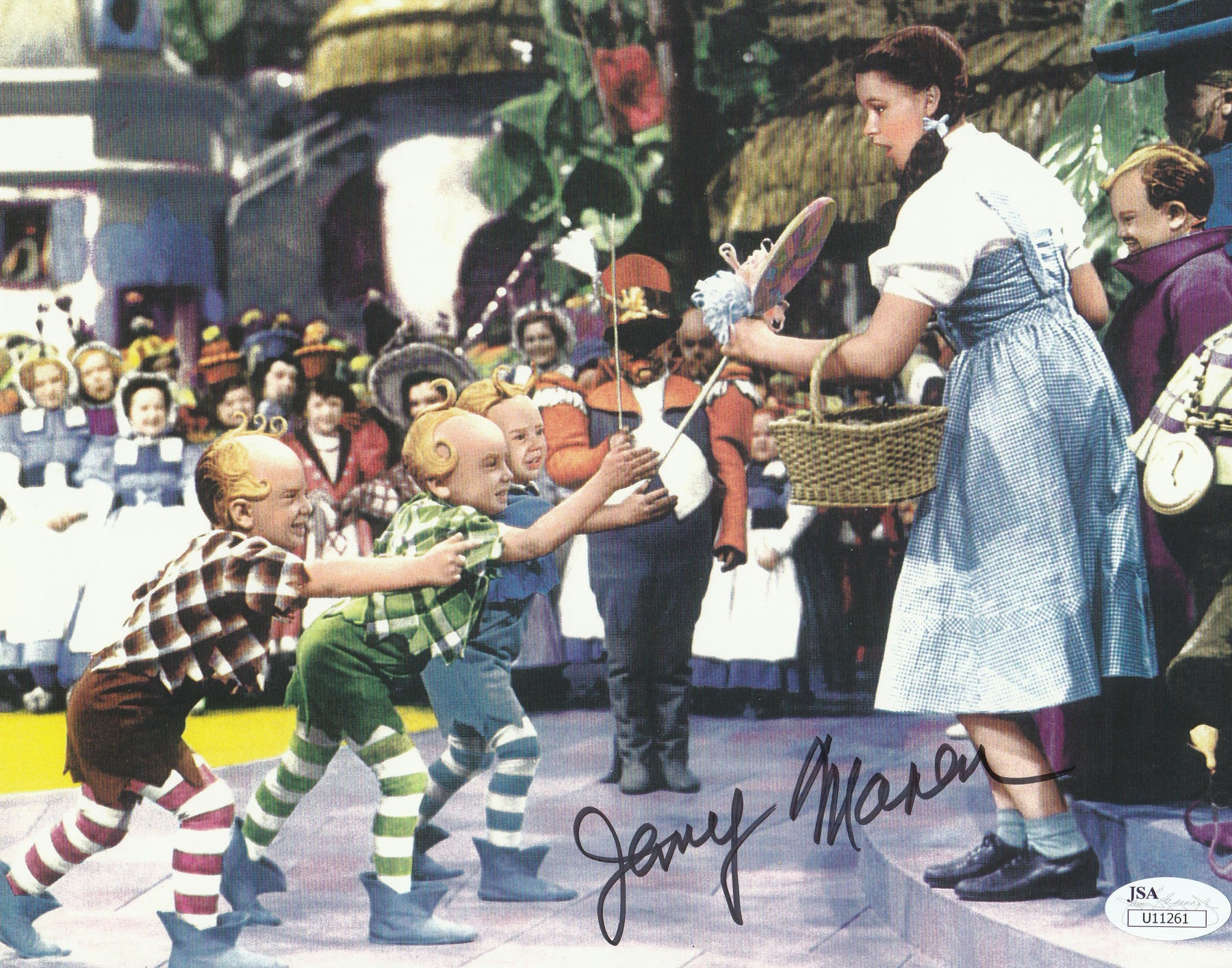 Jerry Maren Autograph 8x10 Photo The Wizard of Oz Munchkin Signed JSA COA