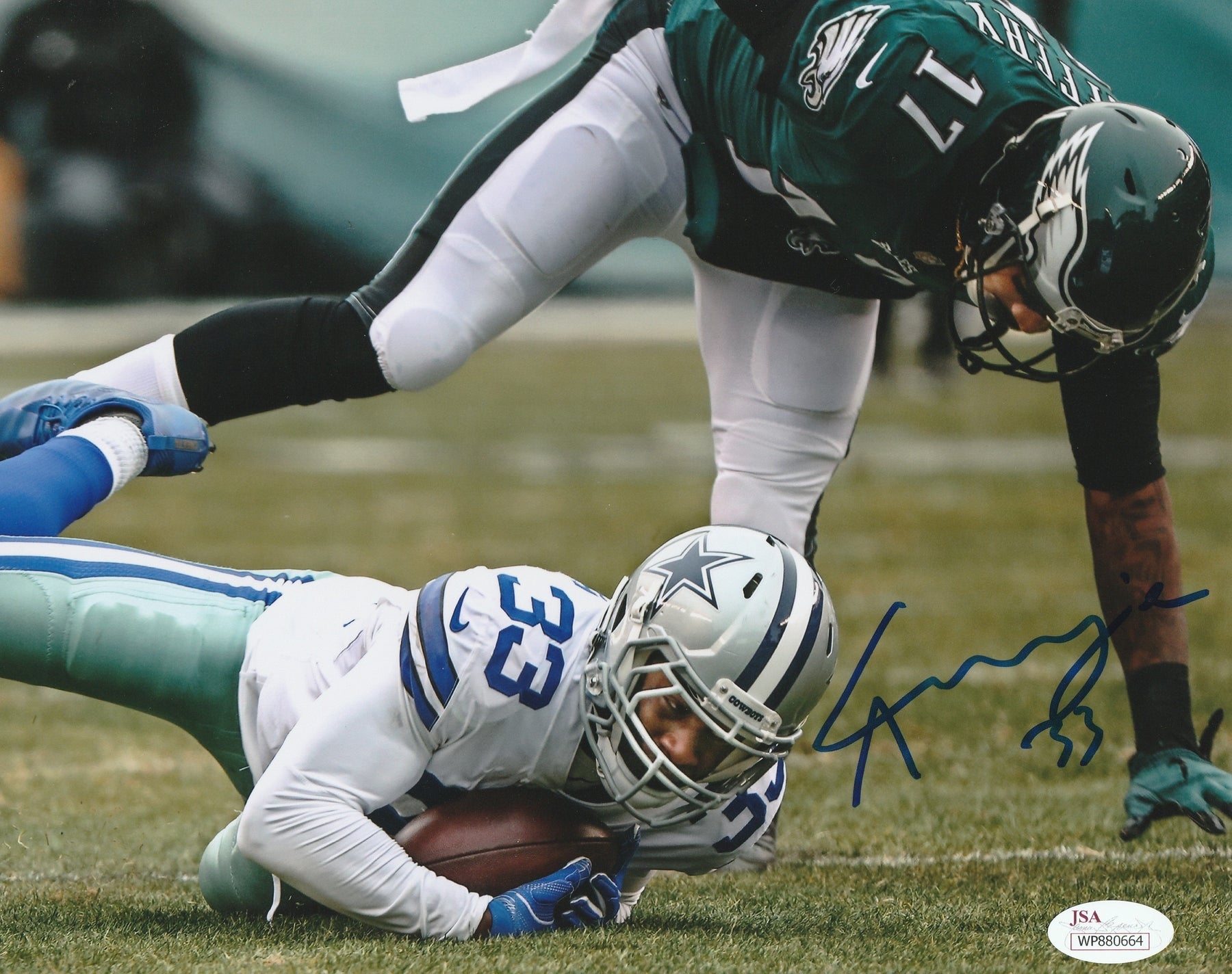 Chidobe Awuzie Autograph 8x10 Photo Dallas Cowboys Signed JSA COA 3