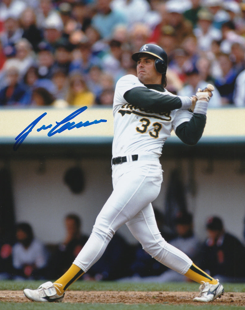 Jose Canseco Autograph 8x10 Photo Oakland As SIGNED COA