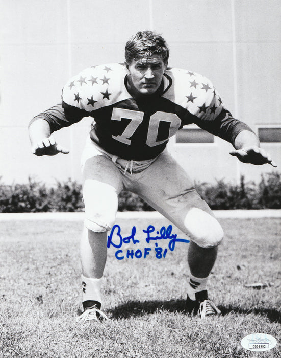 Bob Lilly Autograph 8x10 Photo Dallas Cowboys TCU CHOF Signed JSA COA