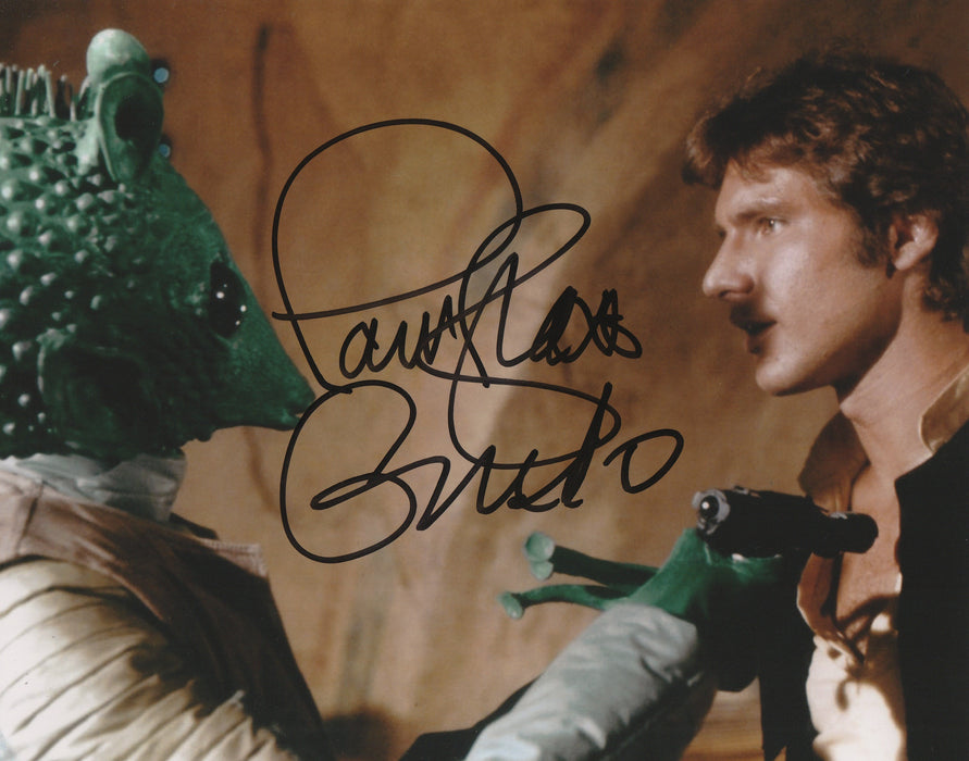 Paul Blake Autograph 8x10 Photo Star Wars Greedo Signed Zobie COA 4